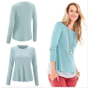 CAbi #5133 swingy crewneck sweater size small